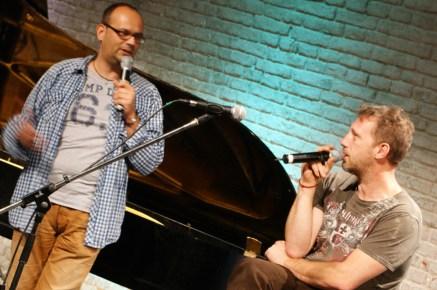 alex sebastian und Gast-Comoderator Michi Marchner