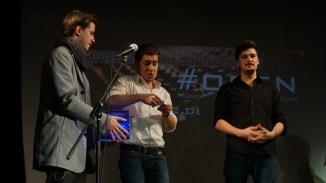 Ziehung des Publikumsgewinners: Sebastian Klein mit Beier & Hang