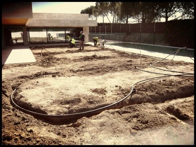 instalación sistema riego jardín aravaca