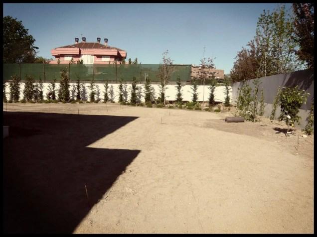 replanteo riego jardín aravaca