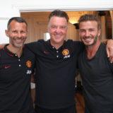 Louis Van Gaal And Ryan Giggs Meet David Beckham