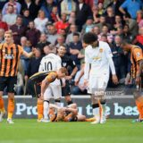 during the Barclays Premier League match between Hull City and Manchester United at KC Stadium on May 24, 2015 in Hull, England.