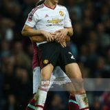 during The Emirates FA Cup, sixth round replay between West Ham United and Manchester United at the Boleyn Ground on April 13, 2016 in London, England.