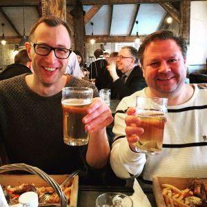 Björn och Rune S på Oast House