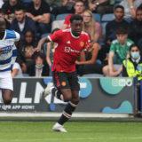 Anthony Elanga gjorde ett piggt inhopp och stod för Uniteds reduceringsmål i andra halvlek.