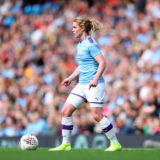 MANCHESTER, ENGLAND - SEPTEMBER 07: Aoife Mannion of Manchester City during the Barclays FA Women's Super League match between Manchester City and Manchester United at Etihad Stadium on September 07, 2019 in Manchester, United Kingdom. (Photo by Catherine Ivill/Getty Images)