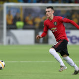 ASTANA, KAZAKHSTAN - NOVEMBER 28: Dylan Levitt of Manchester United in action during the UEFA Europa League group L match between FK Astana and Manchester United at Astana Arena on November 28, 2019 in Astana, Kazakhstan. (Photo by Matthew Peters/Manchester United via Getty Images)