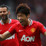 MANCHESTER, ENGLAND - AUGUST 28:  Ji-Sung Park of Manchester United celebrates after scoring his goal during the Barclays Premier League match between Manchester United and Arsenal at Old Trafford on August 28, 2011 in Manchester, England.  (Photo by Alex Livesey/Getty Images)