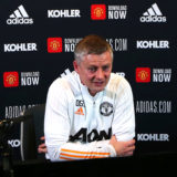 MANCHESTER, ENGLAND - JANUARY 11:  Manchester United Head Coach / Manager Ole Gunnar Solskjaer answers questions from media following a first team training session at Aon Training Complex on January 11, 2021 in Manchester, England. (Photo by Matthew Peters/Manchester United via Getty Images)