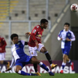 LEIGH, ENGLAND - FEBRUARY 05: Amad of Manchester United U23s in action during the Premier League 2 match between Manchester United U23s and Blackburn Rovers U23s at Leigh Sports Village on February 05, 2021 in Leigh, England. (Photo by John Peters/Manchester United via Getty Images)
