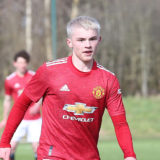 MANCHESTER, ENGLAND - MARCH 13: Isak Hansen-Aaroen of Manchester United U18s in action during the U18 Premier League match between Manchester United U18s and Sunderland U18s at Aon Training Complex on March 13, 2021 in Manchester, England. (Photo by John Peters/Manchester United via Getty Images)