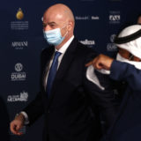 DUBAI, UNITED ARAB EMIRATES - DECEMBER 27: FIFA president Gianni Infantino attends the Dubai Globe Soccer Awards at Armani Hotel Dubai on December 27, 2020 in Dubai, United Arab Emirates. (Photo by Francois Nel/Getty Images)