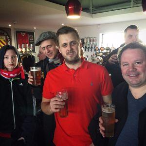 Ivan, Stefan, Carl och Rune S på Broadhurst Park