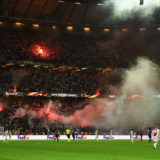 STOCKHOLM, SWEDEN - MAY 24:  A general view from inside the stadium as a flare is set off within supporters during the UEFA Europa League Final between Ajax and Manchester United at Friends Arena on May 24, 2017 in Stockholm, Sweden.  (Photo by Mike Hewitt/Getty Images)