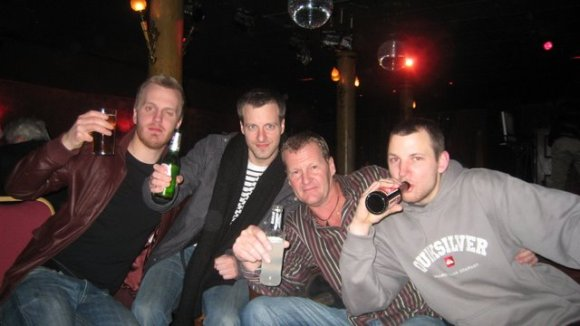 Cideric, Johan, Kent och Bertil.