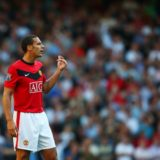 LONDON, ENGLAND - SEPTEMBER 12:   Rio Ferdinand of Manchester United looks on during the Barclays Premier League match between Tottenham Hotspur and Manchester United at White Hart Lane on September 12, 2009 in London, England. (Photo by Jamie McDonald/Getty Images)