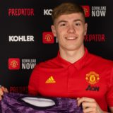 Nathan Bishop signs a contract with Manchester United at ATC on 30 January 2020. Photographer: Ashley Donelon