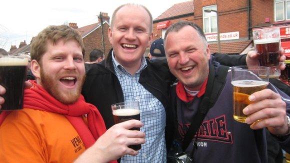 Redan innan matchen var vi glada.