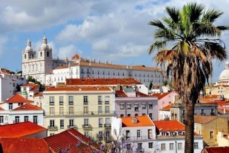 Panorama of Lisbon Portugal