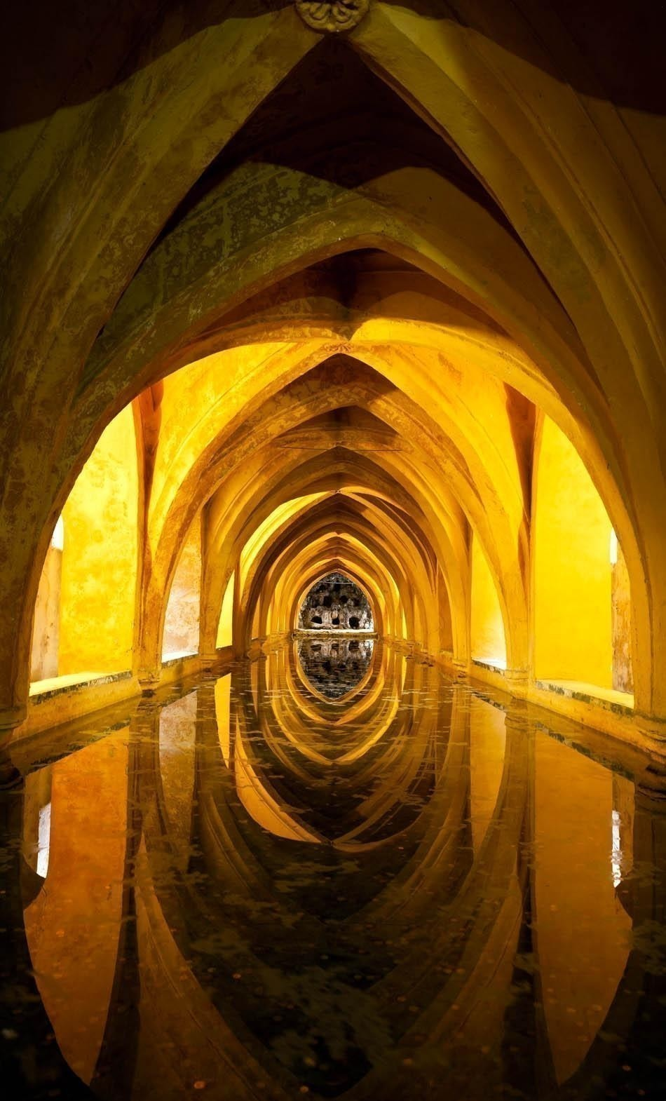 Baths of Dona Maria de Padilla. Royal Alcazar of Seville | Spain Travel Guide