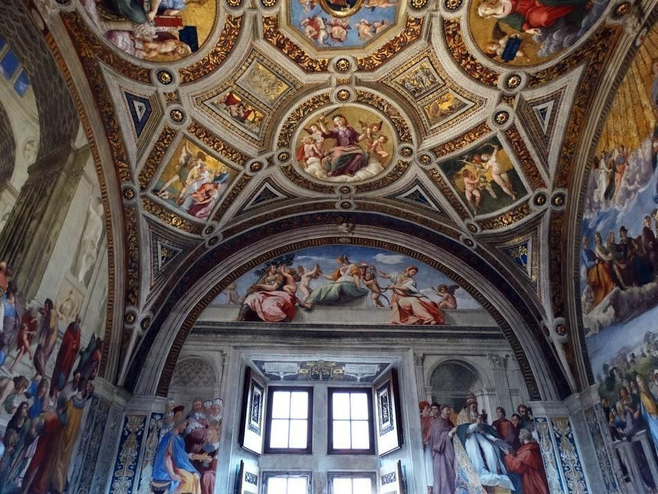 Stanza della Segnatura, Vatican Museums | What to do in a rainy day in Rome - the Eternal City