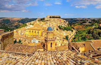 Beautiful village Ragusa in Sicily,