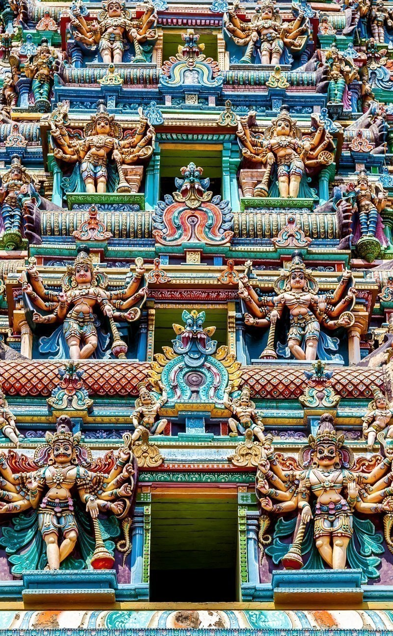 Colorful Hindu Temple, Meenakshi Temple, Madurai, Tamil Nadu | Your Complete Travel Guide to India