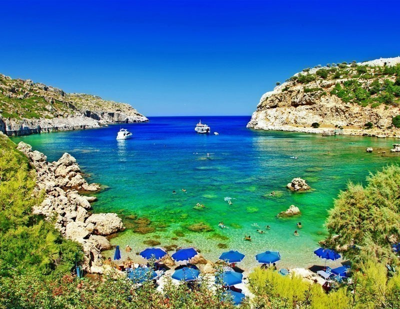 Also called the 'Island of Roses' due to the rock roses, Rhodes is one of the best Greek islands.