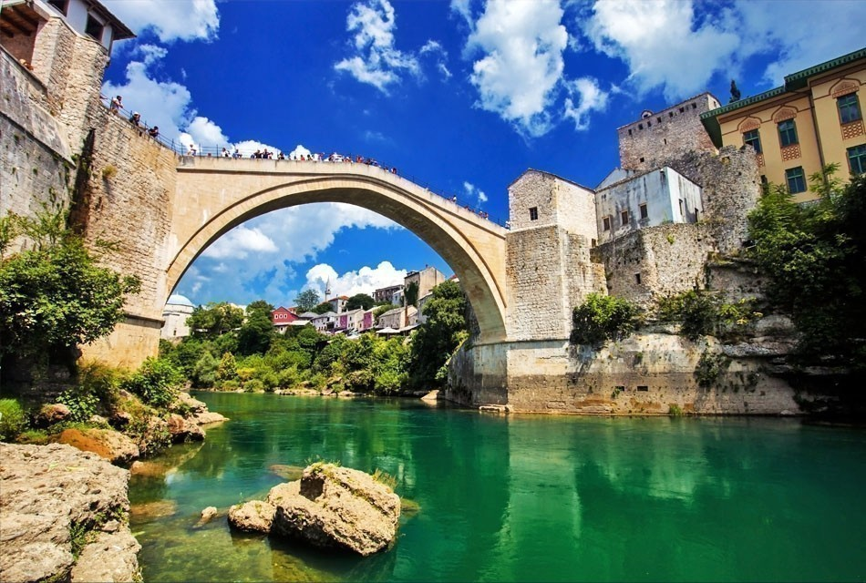 Reconstructed Old Bridge of Mostar in Bosnia Herzegovina | Top 10 Backpacking Destinations Around the World