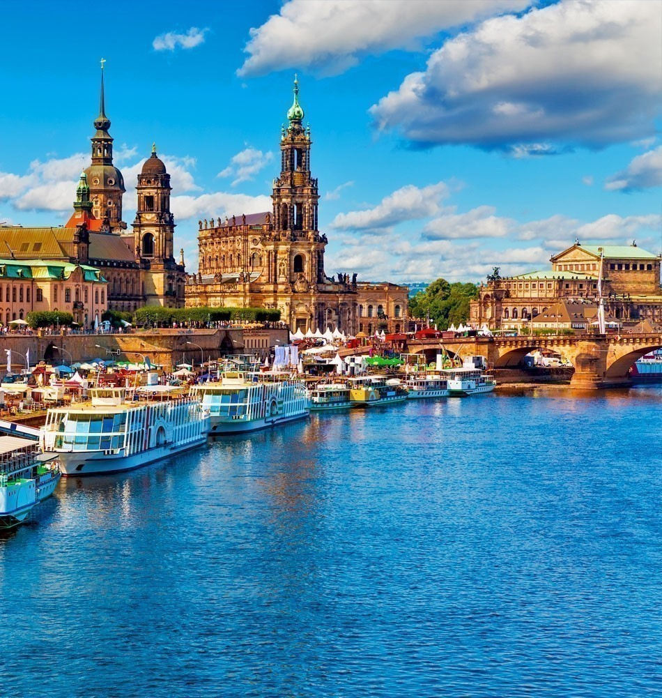 "Beautiful view of Dresden, ""Florence of the Elbe"", Germany 