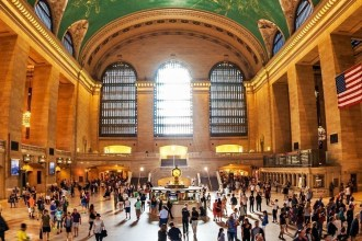 Interior view of the Grand Central Terminal Building