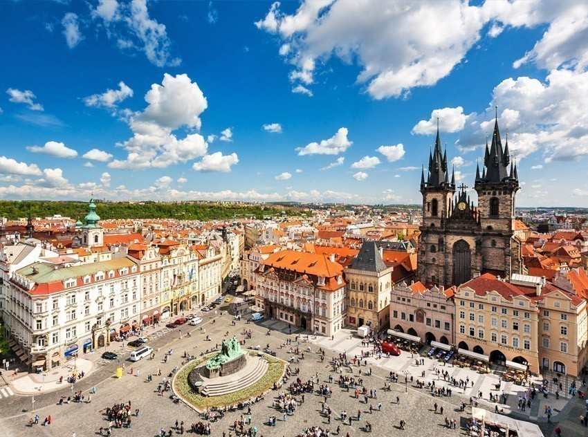 Beautiful View of Old Town Square in Prague | TOP 10 World-famous City Squares