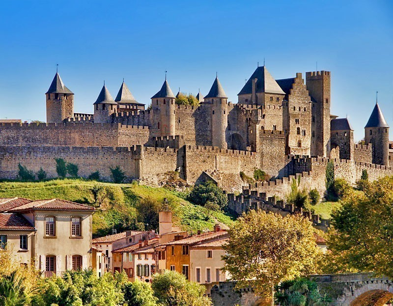 A UNESCO World Heritage walled city, Carcassonne is perched beautifully on a rocky hilltop in South-west of France | Top 10 Most Beautiful Walled Cities in the World You Must Visit