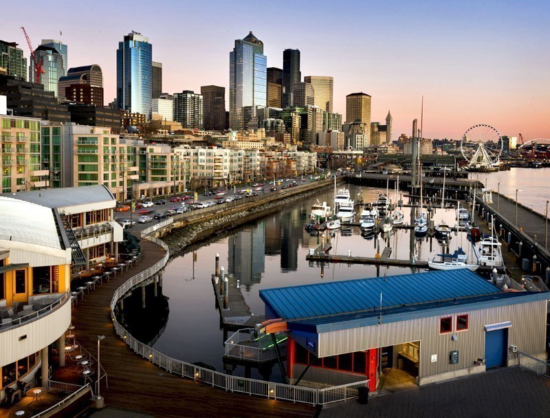Beautiful Seattle Waterfront at Sunset | TOP 10 Places To Travel in July