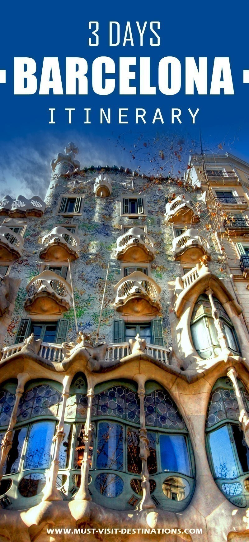 Only 3 days in Barcelona ? No problem! Check out this itinerary! #must-visit #barcelona #destination