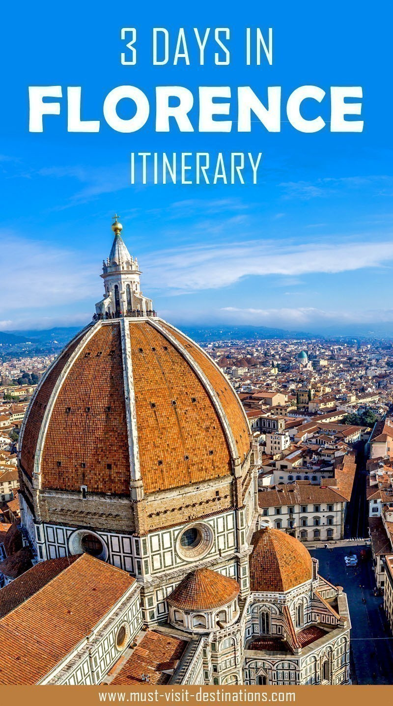 Only 3 days in Florence? No problem! Check out this sample itinerary! #must-visit #destination #florence