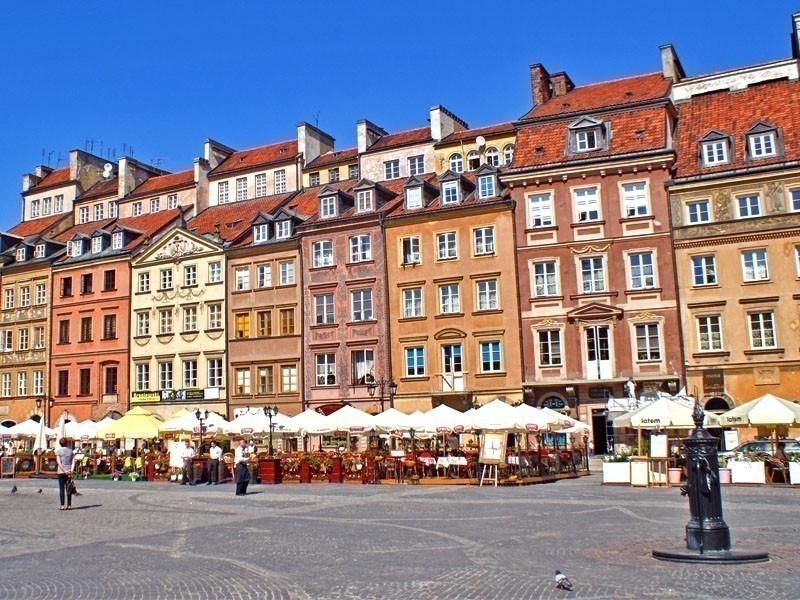 Warsaw Old Town Market Place, surrounded by buildings reconstructed in the period 1948-1953 | What to Do in Warsaw in 3 Days