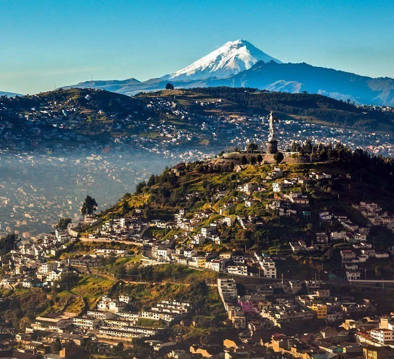 Great view of El Panecillo, Ecuador and Cotopaxi, the highest active volcano in the world | TOP 10 Places to Travel in September
