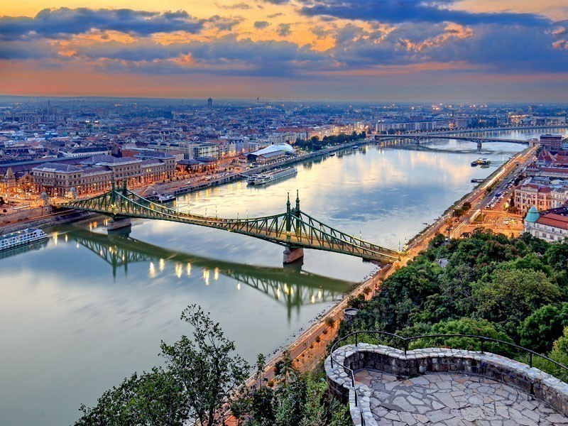 Sunning aerial view over the capital of Hungary, Budapest | What to Do in Budapest in 3 Days
