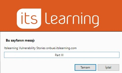ITSLEARNING VULNERABILITY STORIES – One more stored XSS