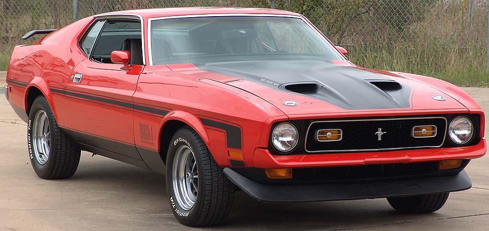 Black Grande 1973 Mustang