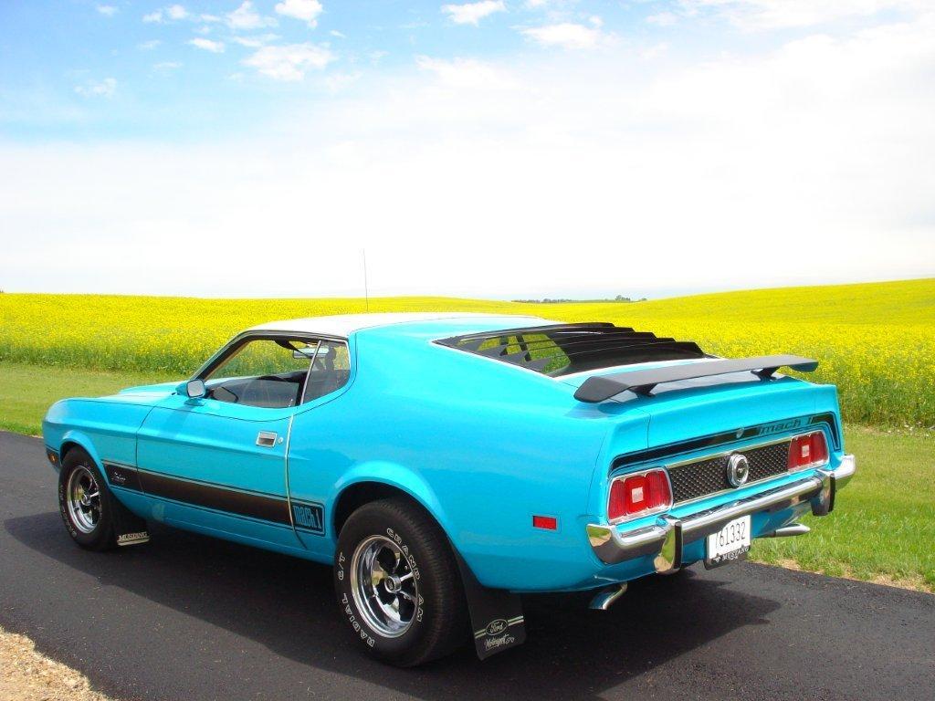 Our fiberglass mustang hoods come from fiberglass specialities. Medium Aqua Blue 1973 Mach 1 Ford Mustang Fastback Mustangattitude Com Photo Detail