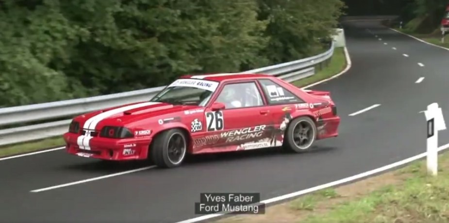 Fox Mustang Hill Climb Sideways