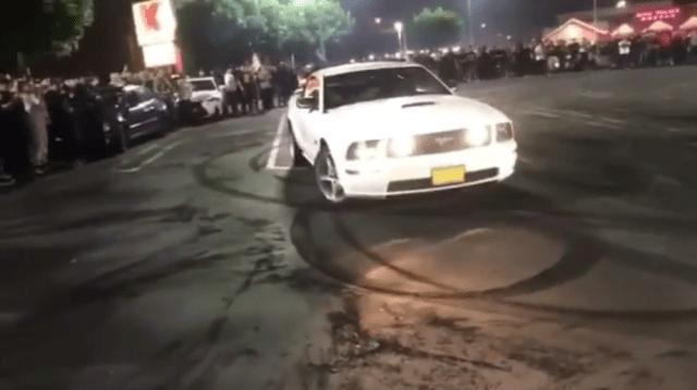 Mustang Crowd Plow Crash