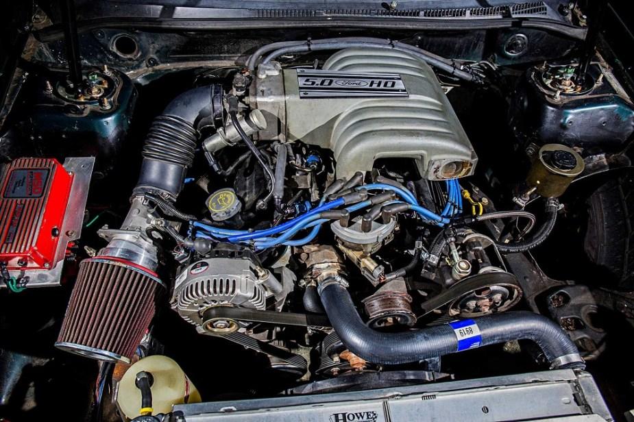 A 5.0 Liter WIndsor V8 in a Subaru Impreza.