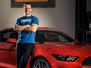 10th Annual AmericanMuscle Mustang Car Show: AM host Justin Dugan