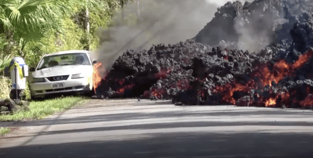 Ford Mustang Engulfed by Kilauea Magma