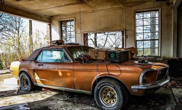 Abandoned 1968 Mustang in Alabama.