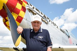 Bud Anderson & a P-51 Mustang