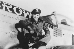 Young Bud Anderson & a P-51 Mustang - Roush